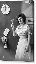 Champagne Toast At Midnight Acrylic Print by Underwood Archives