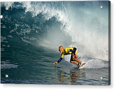Champion At Pipeline Masters  Acrylic Print by Kevin Smith
