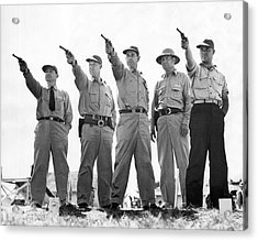 Champion Police Shooters Acrylic Print by Underwood Archives