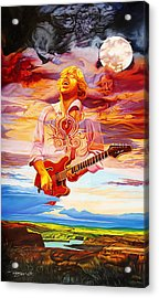 Channeling The Cosmic Goo At The Gorge Acrylic Print by Joshua Morton