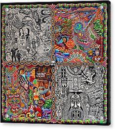 Chaos Culture Jam Acrylic Print by Chris Dyer