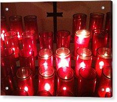 Chapel Candles Acrylic Print by Tina Nies