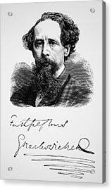 Charles Dickens Acrylic Print by English School