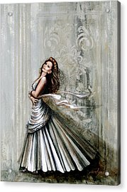 Charles James Swan Gown Acrylic Print by Joan Garcia