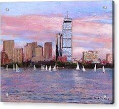 Charles River Boston Acrylic Print by Jack Skinner