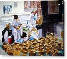 Charleston Basket Weavers Acrylic Print by Julia Rietz
