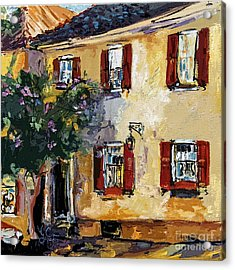 Charleston South Carolina Yellow House On Chalmers Street Acrylic Print by Ginette Callaway