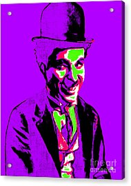 Charlie Chaplin 20130212m78 Acrylic Print by Wingsdomain Art and Photography