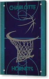 Charlotte Hornets Court Acrylic Print by Joe Hamilton