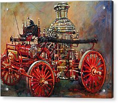 Charlotte Steamer Acrylic Print by Dan Nelson