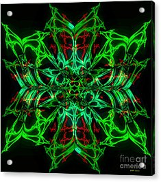 Charlotte's New Freakin' Awesome Neon Web Acrylic Print by Elizabeth McTaggart