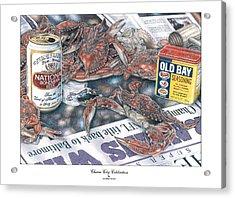 Charm City Celebration Acrylic Print by Jonathan W Brown
