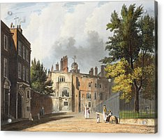 Charter House From The Square Acrylic Print by William Westall