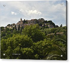 Chateauneuf Du Grasse Acrylic Print by Allen Sheffield