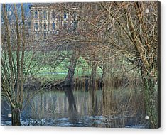 Chatsworth House December Acrylic Print by Jerry Daniel