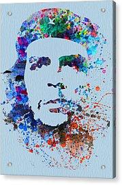 Che Guevara Watercolor Acrylic Print by Naxart Studio