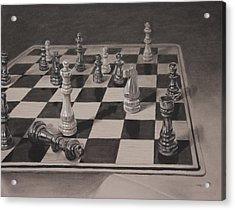 Checkmate Acrylic Print by Christopher Reid