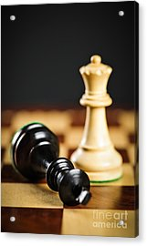 Checkmate In Chess Acrylic Print by Elena Elisseeva