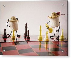 Checkmate Mallow Acrylic Print by Heather Applegate