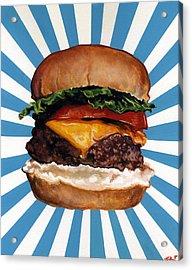Cheeseburger Acrylic Print by Kelly Gilleran