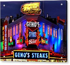 Cheesesteak Heaven Acrylic Print by Benjamin Yeager