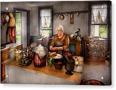 Chef - Kitchen - Cleaning Cherries  Acrylic Print by Mike Savad