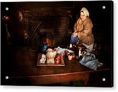 Chef - Kitchen - Today's Menu  Acrylic Print by Mike Savad