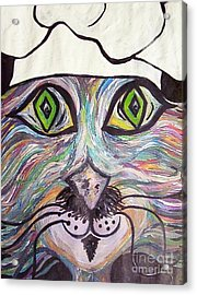Chef Pierre ... A Cat With Good Taste Acrylic Print by Eloise Schneider