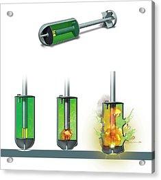 Chemical Warhead Acrylic Print by Claus Lunau