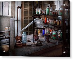 Chemist - My Retort Is Better Than Yours  Acrylic Print by Mike Savad
