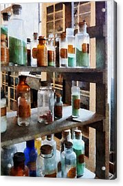 Chemistry - Bottles Of Chemicals Acrylic Print by Susan Savad