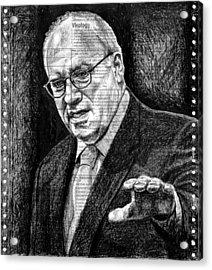 Cheney Acrylic Print by Mark Zelmer