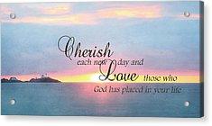 Cherish Love Acrylic Print by Lori Deiter