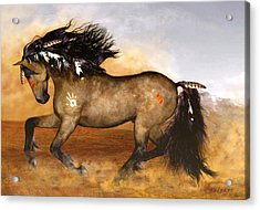 Cherokee Acrylic Print by Valerie Anne Kelly