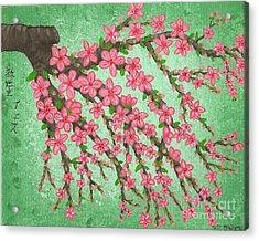 Cherry Blossom 2 Acrylic Print by Vicki Maheu