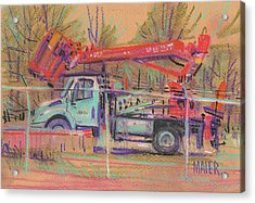 Cherry Picker Acrylic Print by Donald Maier