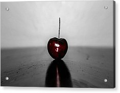 Cherry Red Acrylic Print by Steven  Taylor