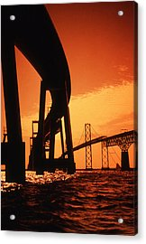 Chesapeake Bay Bridge Acrylic Print by Skip Willits