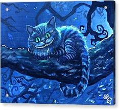 Cheshire Cat Acrylic Print by Tom Carlton