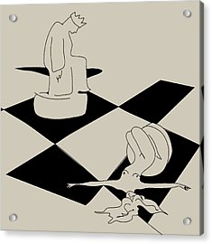 Chess And Art Acrylic Print by Frida  Kaas