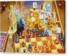 Chess And Tequila Acrylic Print by Mary Helmreich