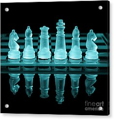 Chess Board Acrylic Print by Amanda And Christopher Elwell