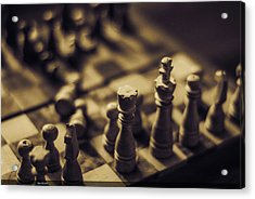 Chessmaster Acrylic Print by Diaae Bakri