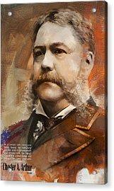 Chester A. Arthur Acrylic Print by Corporate Art Task Force