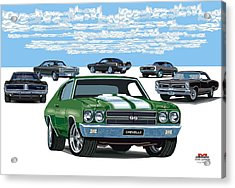 Chevelle 2 Acrylic Print by DARRYL McPHERSON