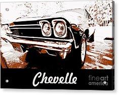 Chevelle Pop Art Acrylic Print by Cheryl Young