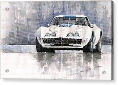 Chevrolet Corvette C3 Acrylic Print by Yuriy  Shevchuk