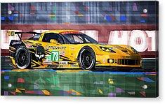 Chevrolet Corvette C6r Gte Pro Le Mans 24 2012 Acrylic Print by Yuriy  Shevchuk