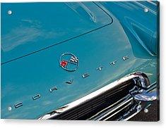 Chevrolet Corvette Hood Emblem 2 Acrylic Print by Jill Reger