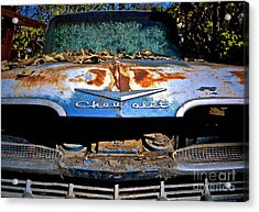 Chevrolet Picking Acrylic Print by Gwyn Newcombe